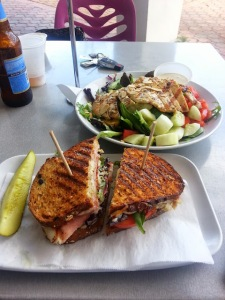 Jerk Chicken Salad and Club Panini